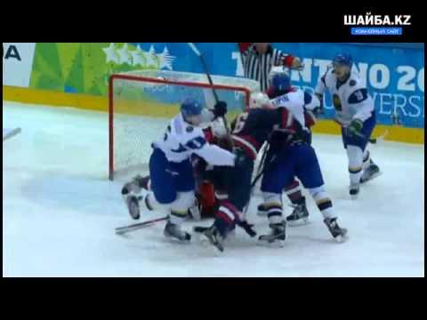 Видео матча: Казахстанские хоккеисты победили США на Универсиаде