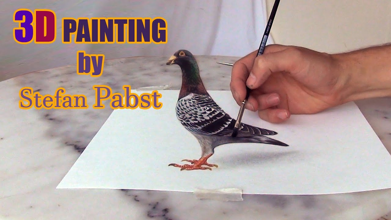 Pigeon 3d drawing tutorial by Stefan Pabst