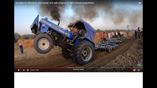 Sonalika DI-750 tractor best power test with 3 harrow in lakhu bwana competition
