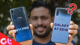 Download Video Vivo V11 Pro vs Samsung Galaxy A7 Comparison, Camera, Speed, Design, Battery MP3 3GP MP4