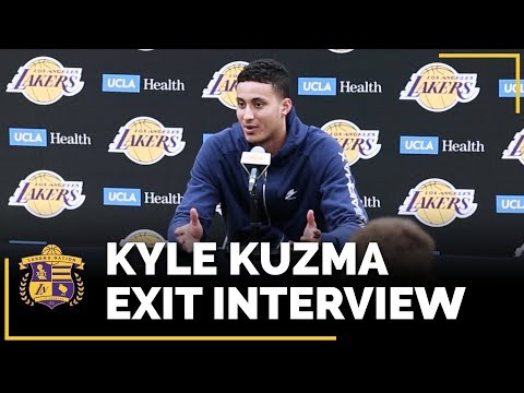 Video: Lakers Exit Interviews 2018: Kyle Kuzma (With Time Stamps!)