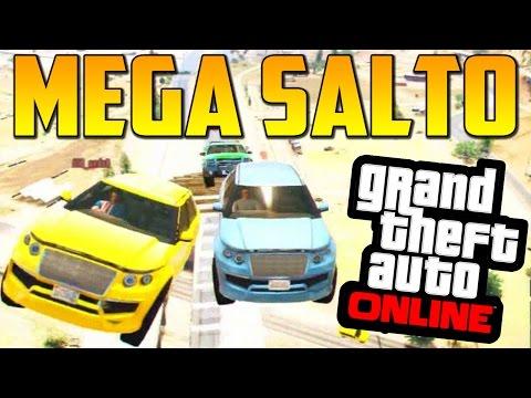 MEGA SALTO Y MEGA RAMPA!! - GTA 5 Online 1.15 - Funny Moments GTA V Online 1.15 (видео)
