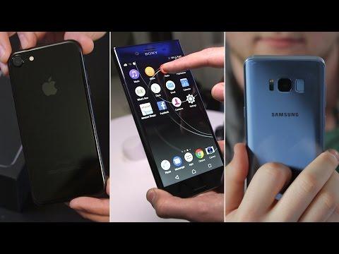 , title : 'Samsung Galaxy S8 vs Sony Xperia XZ Premium vs iPhone 7: clash of the YouTube titans'