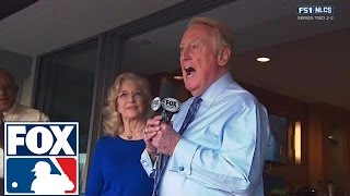 Los Angeles Dodgers honor Vin Scully with NLCS pregame tribute by FOX Sports