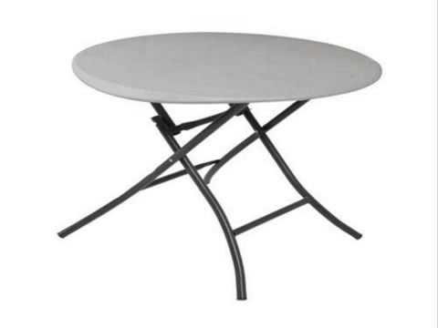 Lifetime 80230 33-Inch Round Folding Table Putty Color Tabl