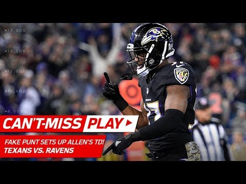 Video: Ravens Fake Punt Pass Sets Up Allen's Powerful TD Blast! | Can't-Miss Play | NFL Wk 12 Highlights