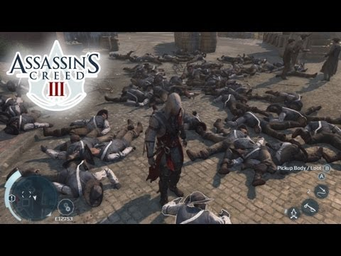 AC3 - 30 MINUTE BATTLE! LONGEST FIGHT IN AC3 HISTORY! Ultimate carnage in Assassin's Creed 3 gameplay with tons of killstreaks (or killing spree), showing an epic ...