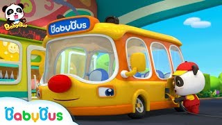 Video Baby Panda's School Bus is Out of Gas | Gas Station Attendance | Kids Role Play | BabyBus MP3, 3GP, MP4, WEBM, AVI, FLV Juli 2019