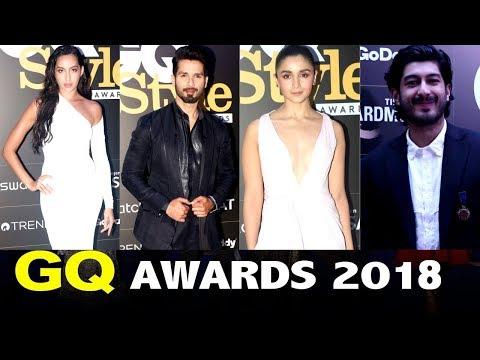 Alia Bhatt ,Shahid Kapoor ,Mohit Marwah & Nora Fatehi Attends GQ Style Awards 2018