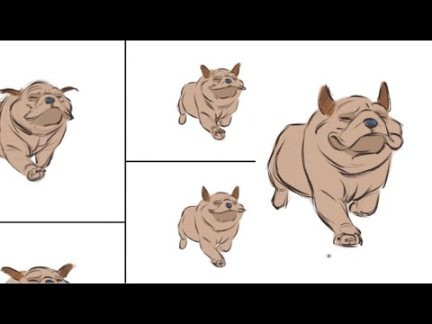 Live Stream - Animating a Cartoon Dog Run (Miss Violet)