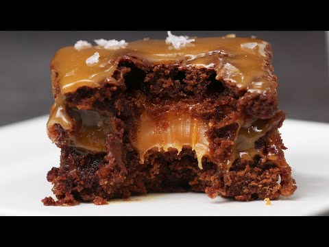 The Best Gooey Salted Caramel Brownies
