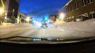 Moncton (NB) Canada  city images : Dash Cam Moncton New Brunswick Canada 2015 after snow storm