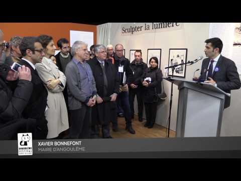 FIBD2017 : Inauguration de l'exposition Hermann par la ministre Audrey Azoulay
