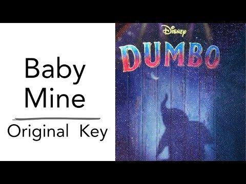 Baby Mine - From Disney's Dumbo (Piano Instrumental Karaoke Track) [Original Key]