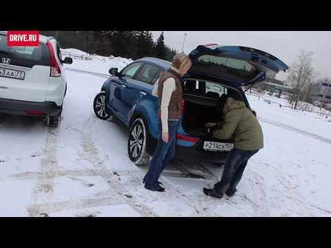 2013 Honda CR-V vs. Kia Sportage — За кадром