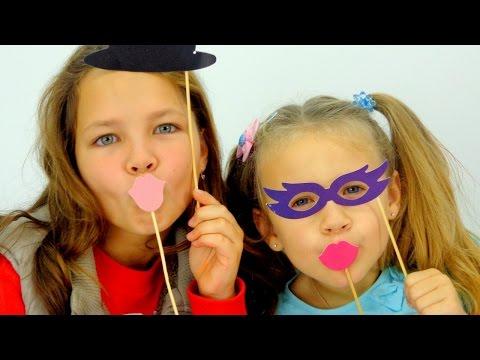 Видео для детей. Ксюша и Настя - дети актеры. Школа Искусств Аллы Карповны (видео)
