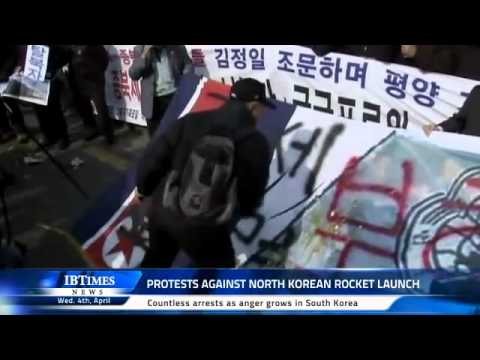 Protests against North Korean rocket launch