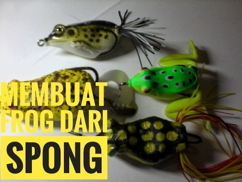 How To Make Frog With Spong, Tutorial Cara Membuat Kodok Dari Spon