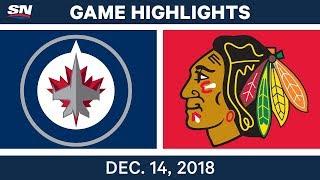 NHL Highlights | Jets vs. Blackhawks - Dec 14, 2018 by Sportsnet Canada