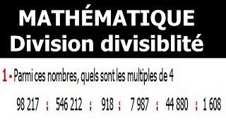 Maths 6ème - Division et divisibilité Exercice 5