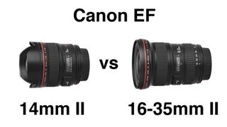 Canon EF 14mm II Vs 16-35mm II Wide Angle Lens Comparison