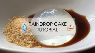 Resep Praktis Membuat Raindrop Cake Berkuah Kacang Gula Merah
