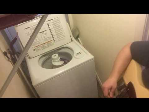 Thunderstruck White Trash Washer Cover