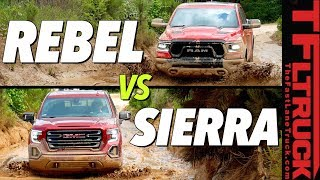 $60,000 Off-Road Truck Battle: Ram Rebel vs GMC Sierra AT4 vs Texas Mud by The Fast Lane Truck