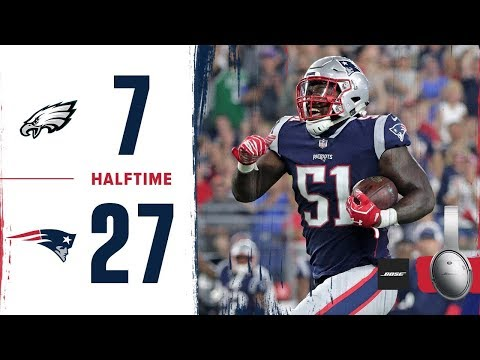 Eagles vs Patriots Week 2 Preseason First Half Highlights (видео)