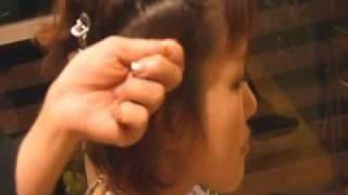 美容室シュリンプの編みこみアレンジ教室2