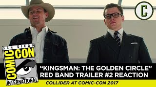 "Dennis Tzeng and Mark Reilly react to and review the newest Red Band trailer for ""Kingsman 2: The Golden Circle"", from SDCC 2017 - San Diego Comic-Con.Subscribe to ColliderVideos for more Comic-Con coverage all week, including exclusive interviews, breaking news, panel reviews, and trailer reactions!Follow us on Twitter: https://twitter.com/ColliderVideoFollow us on Instagram: https://instagram.com/ColliderVideoFollow us on Facebook: https://facebook.com/colliderdotcomAs the online source for movies, television, breaking news, incisive content, and imminent trends, COLLIDER is a more than essential destination: http://collider.comFollow Collider.com on Twitter: https://twitter.com/ColliderSubscribe to the SCHMOES KNOW channel: https://youtube.com/schmoesknowCollider Show Schedule:- MOVIE TALK: Weekdays  http://bit.ly/29BRtOO- HEROES: Weekdays  http://bit.ly/29F4Job- MOVIE TRIVIA SCHMOEDOWN: Tuesdays & Fridays  http://bit.ly/29C2iRV - TV TALK: Mondays  http://bit.ly/29BR7Yi - COMIC BOOK SHOPPING: Wednesdays  http://bit.ly/2spC8Nn- JEDI COUNCIL: Thursdays  http://bit.ly/29v5wVi - COLLIDER NEWS WITH KEN NAPZOK: Weekdays  http://bit.ly/2t9dNIE- BEST MOVIES ON NETFLIX RIGHT NOW: Fridays  http://bit.ly/2txP3gn- BEHIND THE SCENES & BLOOPERS: Saturdays  http://bit.ly/2kuLuyI- MAILBAG: Weekends  http://bit.ly/29UsKsd"