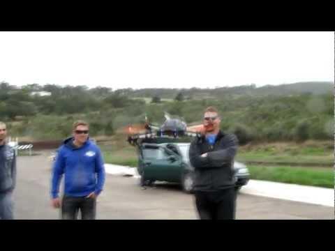 Quadcopter testing and fpv. (видео)