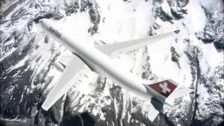 Airbus A330-300 of Swiss International Air Lines flying over beautiful Swiss Alps and near Matterhorn.