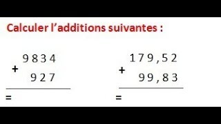 Maths 6ème - Les opérations : Addition Soustraction Multiplication Division Exercice 3
