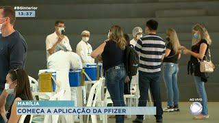Marília dá início ao uso das vacinas da Pfizer