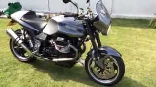 6. GUZZI v11 with shortened titanium cans cafe racer exhaust  sound
