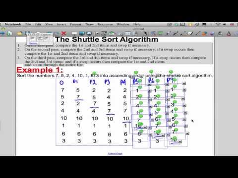 Shuttle Sortieren Algorithm (Beschluss Maths 1)