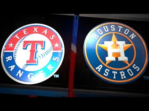 ESPN SUNDAY NIGHT BASEBALL: TEXAS RANGERS VS HOUSTON ASTROS 4/15/18. MLB THE SHOW 18