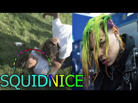 Squidnice take shots at 6ix9ine for posting a video of him getting beat up