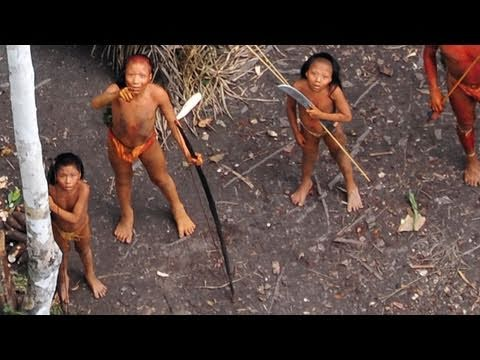 footage - http://www.uncontactedtribes.org - For the first time, extraordinary aerial footage of one of the world's last uncontacted tribes has been released. Survival...