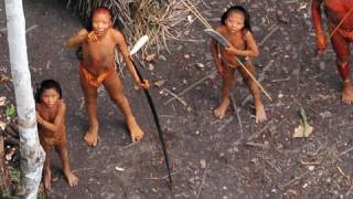 http://www.uncontactedtribes.org - For the first time, extraordinary aerial footage of one of the world's last uncontacted tribes has been released. Survival...