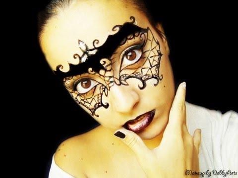 Sexy Lace Gothic Masquerade ❖ Halloween Makeup Series