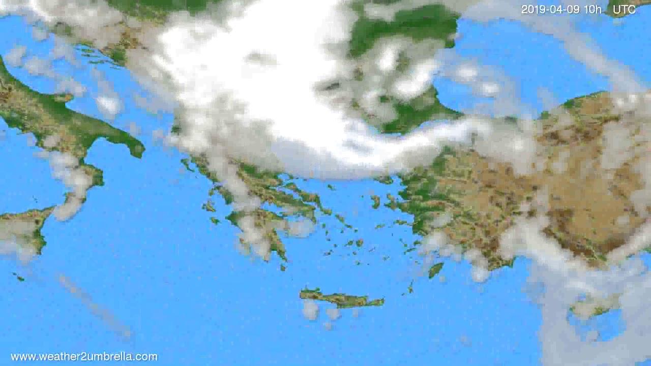 Cloud forecast Greece // modelrun: 12h UTC 2019-04-06