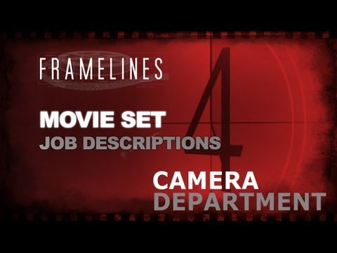 camera department - In our continuing series on the jobs that exist on the movie set, we take a look this time at the Camera Department and who all support the Director of Photo...