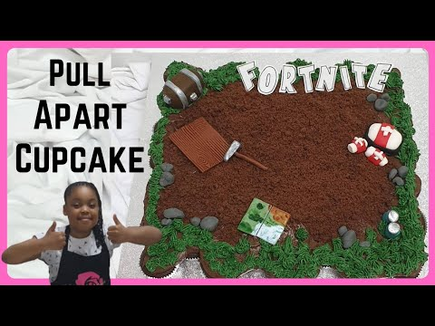 Fortnite Cake | Pull Apart Fortnite Cupcakes | How To Make A Fortnite Cake