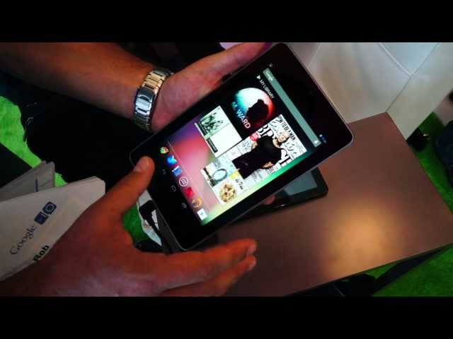 Hands On: Nexus 7 tablet (Google I/O 2012)