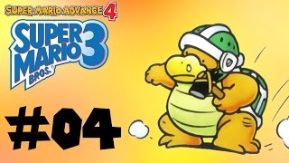 Please leave a Like! Your support is appreciated!Presented by The Gamer's Bench! http://www.gamersbench.com/***Welcome to the fourth part of my playthrough of Super Mario Advance 4, with commentary! In this video, we're heading through World 4, an area that features some giant enemies! Enjoy!Timestamps for this video:World 4: Big Island00:44 World 4-102:53 World 4-204:21 World 4-307:18 World 4-Fortress 110:03 World 4-411:15 Sledge Brother Battle 111:30 Sledge Brother Battle 211:42 Sledge Brother Battle 311:59 World 4-514:46 World 4-616:56 World-4 Fortress 222:03 World 4-AirshipSubscribe for more video game playthroughs!http://www.youtube.com/subscription_center?add_user=octaneblueSuper Mario Advace 4: Super Mario Bros. 3 playlist:https://www.youtube.com/playlist?list=PLLh-tvo0zF5TS68XmpjxrKbVVcoeOBGr1The Gamer's Bench -- http://www.gamersbench.com/Gamer's Bench Discord -- https://discord.gg/C2PmWA4Twitter -- http://www.twitter.com/octaneblueDonations -- https://youtube.streamlabs.com/octaneblueFacebook -- http://www.facebook.com/octanebluetubeTumblr -- http://octaneblog.tumblr.com/Google+ -- http://plus.google.com/+octaneblue---Super Mario Advance 4: Super Mario Bros. 3Developer(s): Nintendo EADPublisher(s): NintendoPlatform(s): Game Boy Advance, Wii U Virtual ConsoleRelease Date(s): October 21, 2003 (GBA), January 21, 2016 (Wii U VC)Endscreen by Sandstormer! http://www.twitter.com/Sandstormer2