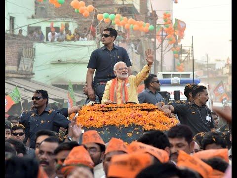 PM Shri Narendra Modi's road show in Varanasi, Uttar Pradesh : 05.03.2017