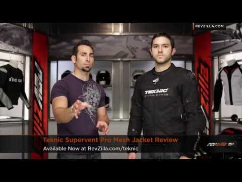 RevZillaTV - Teknic Supervent Pro Mesh Jacket Review http://www.revzilla.com/motorcycle/teknic-supervent-pro-mesh-jacket The Teknic Supervent Pro is one of the most techn...