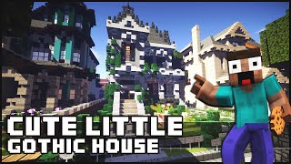 Minecraft - Cute Little Gothic House with a Surprise!